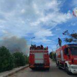 Incendio a Pantanagianni, intervengo i Vigili del Fuoco.